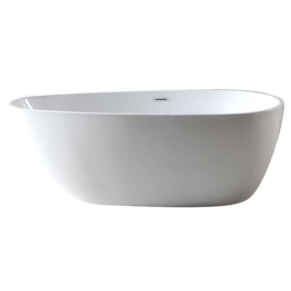 59 x 29 Free Standing Soaking Bathtub by Alfi Brand