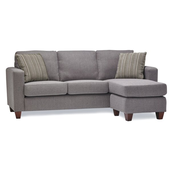 Huntleigh Right Hand Facing Sectional With Ottoman By Wrought Studio