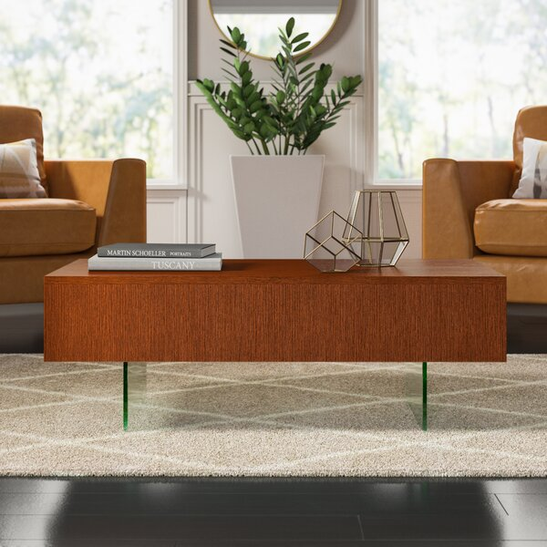 Mcculloch Sled Coffee Table With Storage By Mercury Row