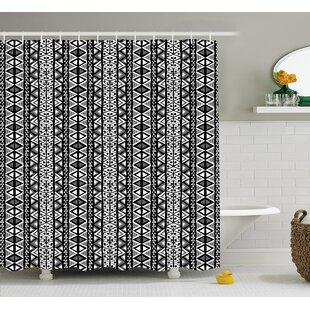 Top Reviews Bangs Ethnic Boho Aztec Decor Shower Curtain ByWrought Studio