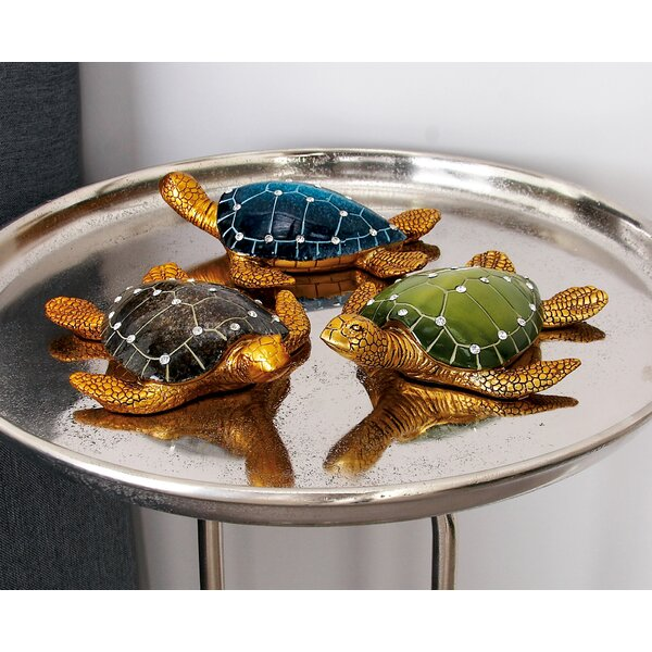Polystone Turtle Figurine Set (Set of 3) by Cole & Grey