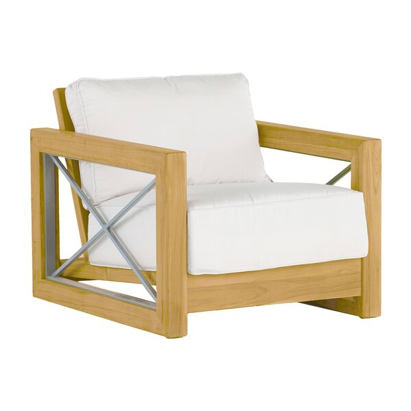 Malta Teak Patio Chair with Cushions by Summer Classics