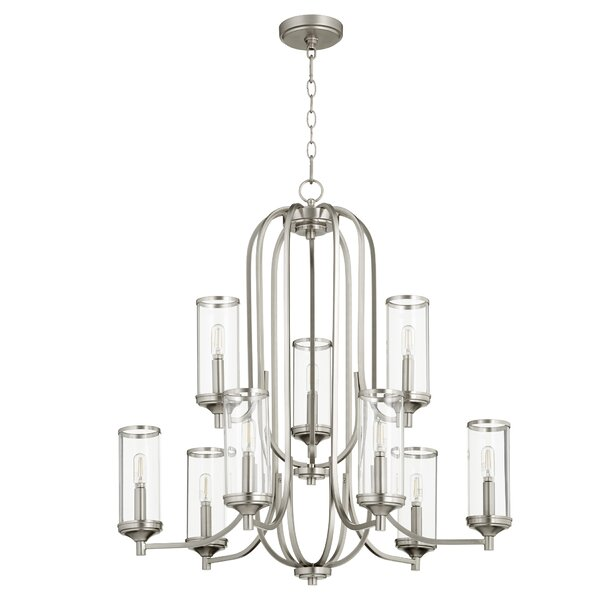 Macomb 9 - Light Shaded Traditional Chandelier by Wrought Studio™