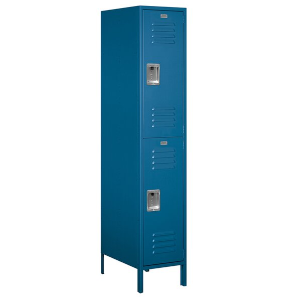 2 Tier 1 Wide School Locker by Salsbury Industries