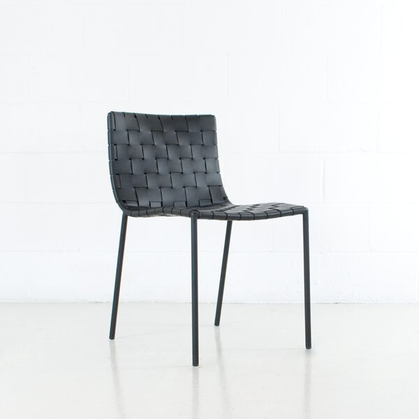 Bensonhurst Upholstered Side Chair In Black By Williston Forge