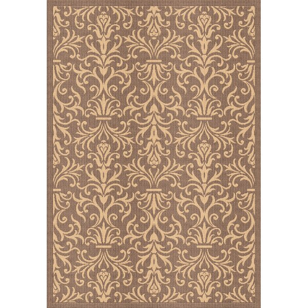 Rauch Damask Brown Indoor / Outdoor Area Rug