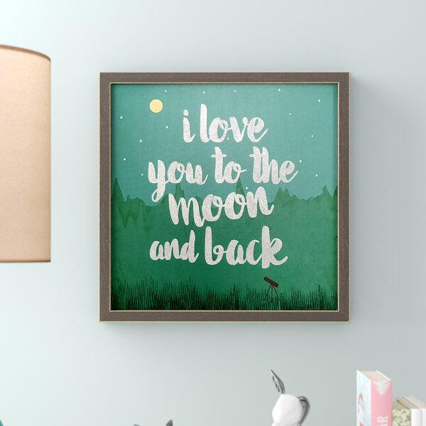 Monaco Look Up, Love You to the Moon Embellished Stretched Framed Canvas Art by Harriet Bee