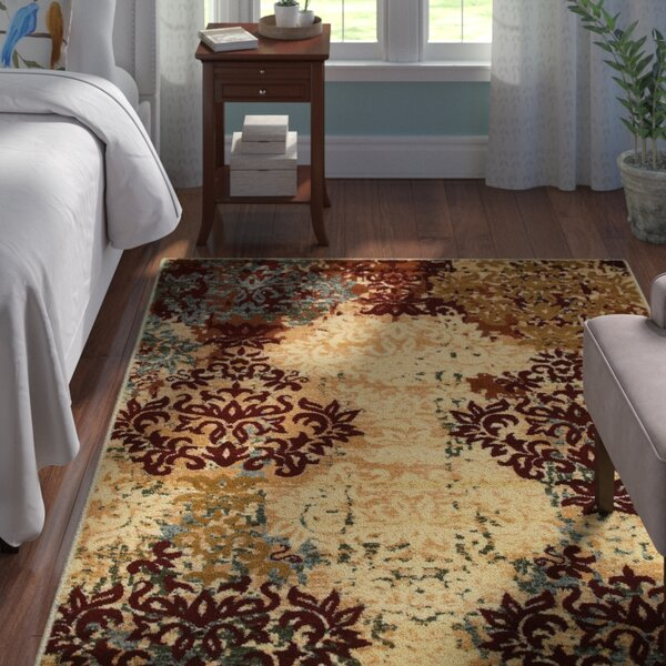 Grace Ivory/Red Area Rug by Andover Mills