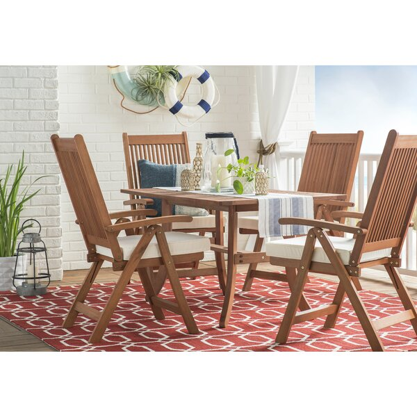 Albury Red/White Indoor/Outdoor Area Rug by Three Posts