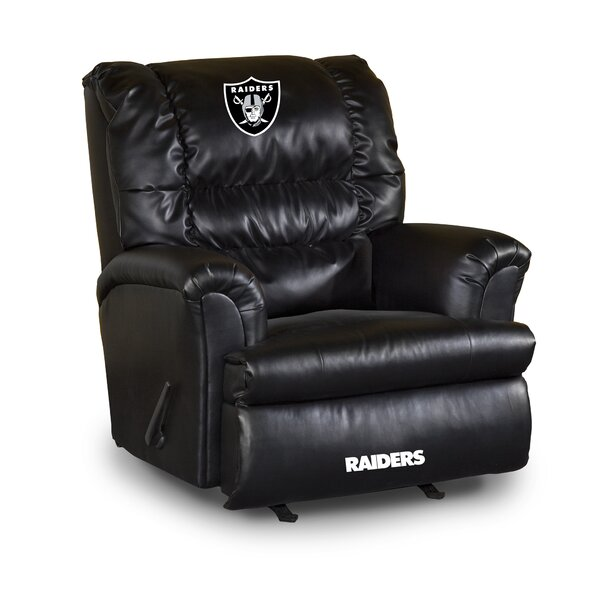 NFL Leather Manual Swivel Glider Recliner by Imperial International