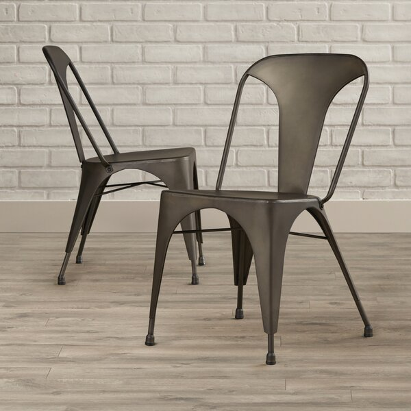 Flynn Stacking Patio Dining Chair (Set of 2) by Sunpan Modern