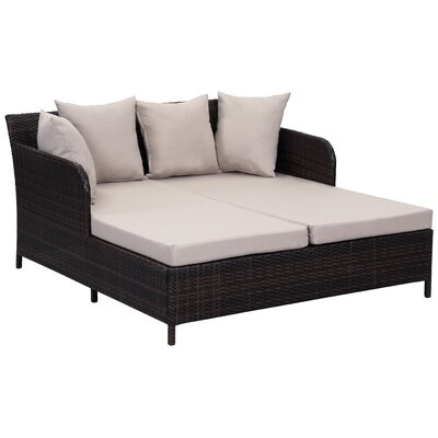 Andromeda Sun Double Chaise Lounge with Cushion by Brayden Studio