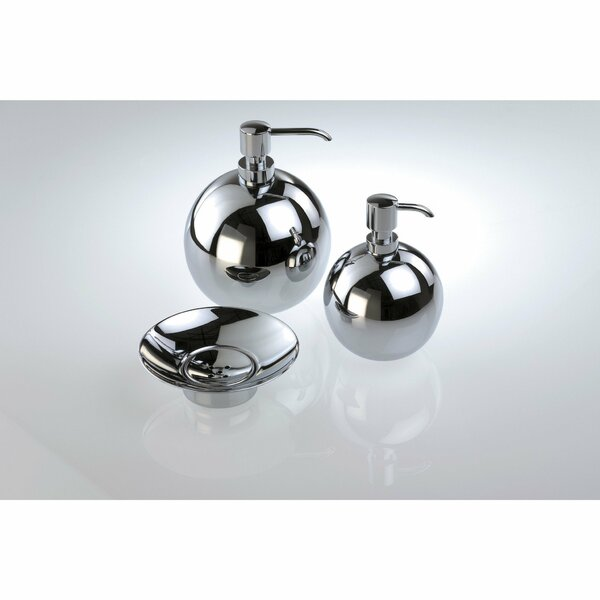 South Ferry Round Ball Polished Small Soap & Lotion Dispenser by Orren Ellis
