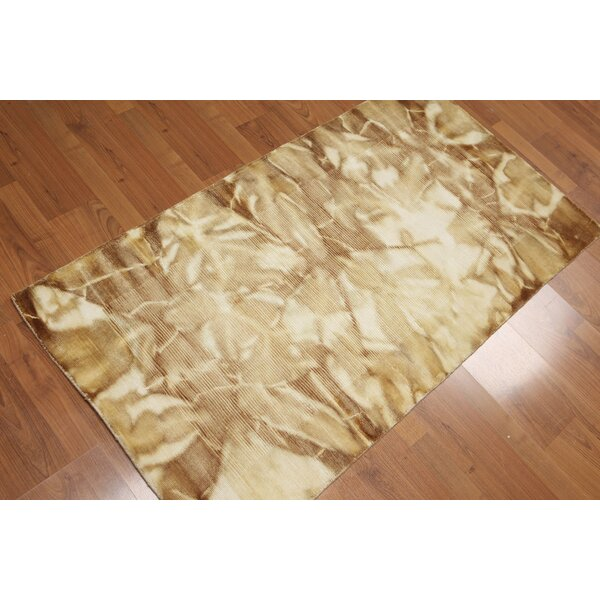 One-of-a-Kind Ingelido Pile Hand-Knotted Wool Brown/Beige Area Rug by Latitude Run