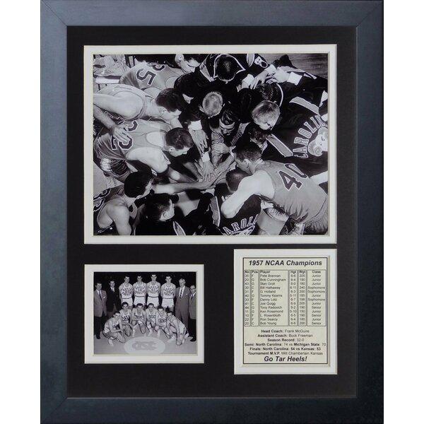 1957 North Carolina Tar Heels Champions Framed Memorabilia by Legends Never Die