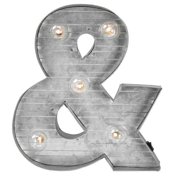 Ampersand & Symbol Metal LED Marquee Sign by Williston Forge