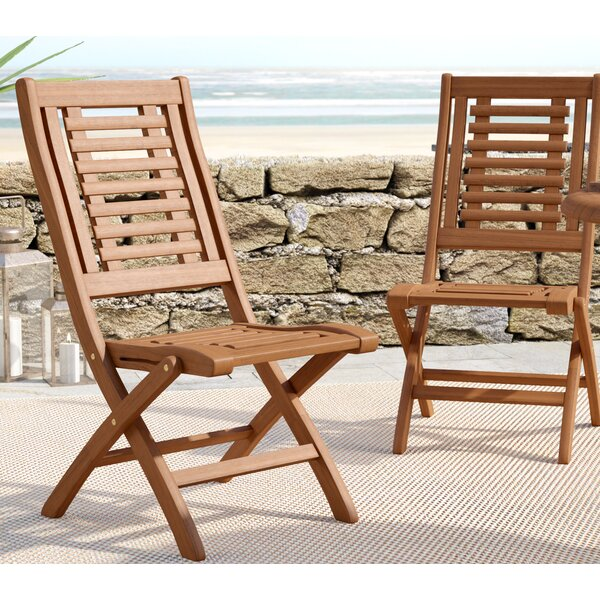Roseland Folding Patio Dining Chair (Set of 2) by