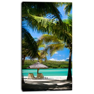 'Tropical Paradise' Photographic Print on Wrapped Canvas by Design Art