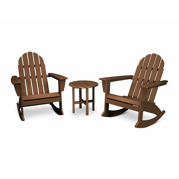 Vineyard 3 Piece Plastic Rocking Adirondack Chair Set by POLYWOOD®