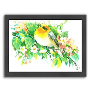 Songbird, Warbler Framed Painting by Alcott Hill