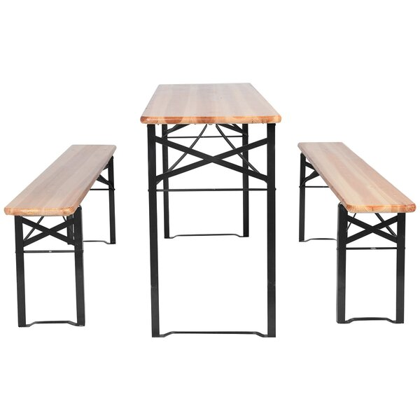 Ramires Folding 3 Piece Picnic Table