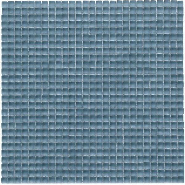 Atlantis 0.25 x 0.25 Glass Mosaic Tile in Dorado  Blue by Solistone