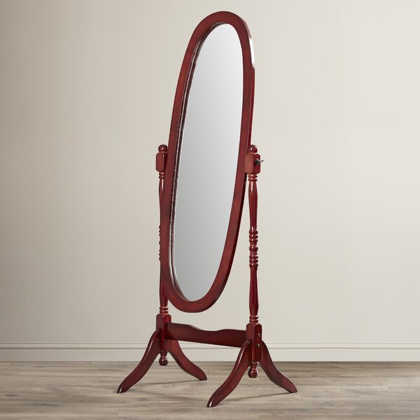 Oval Wood Floor Mirror by Andover Mills