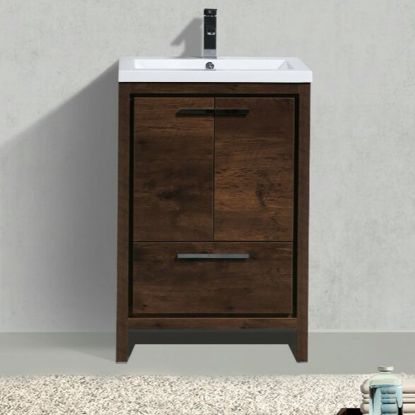 Almendarez Free Standing Modern 24 Single Bathroom Vanity Set by Langley Street
