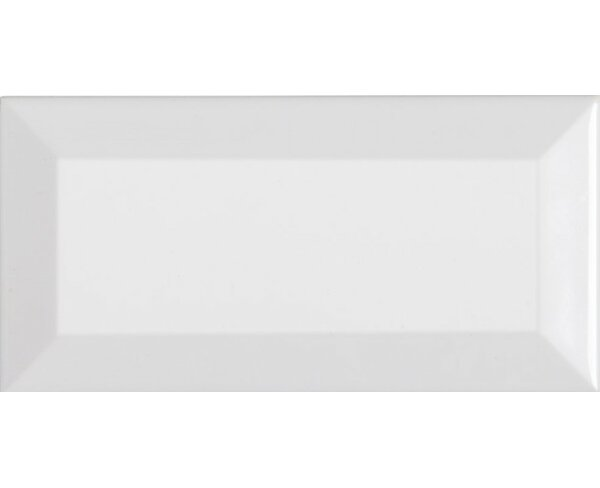 Classic 3 x 6 Beveled Ceramic Subway Tile in White by Mulia Tile