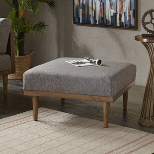 Affordable Belote Square Ottoman by Langley Street