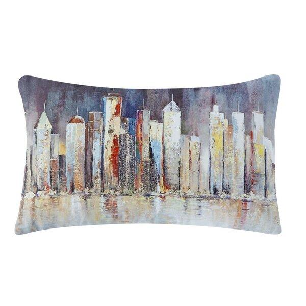 Saul Skyline Indoor/Outdoor Cotton Lumbar Pillow