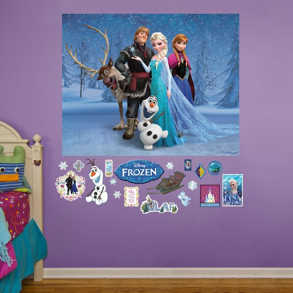 RealBig Disney Frozen Group Wall Decal by Fathead