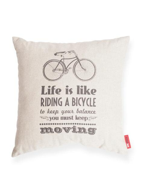 Domaine Life is Like Riding a Bicycle Cotton Throw Pillow by Gracie Oaks
