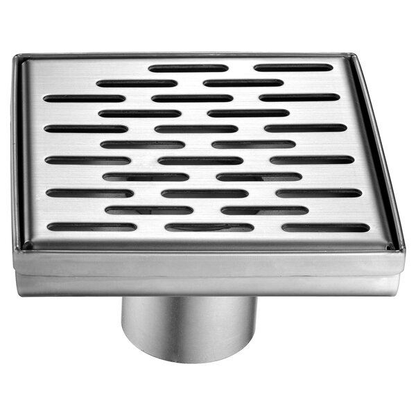 SquareStainless Steel2 Grid Shower Drain by Alfi Brand
