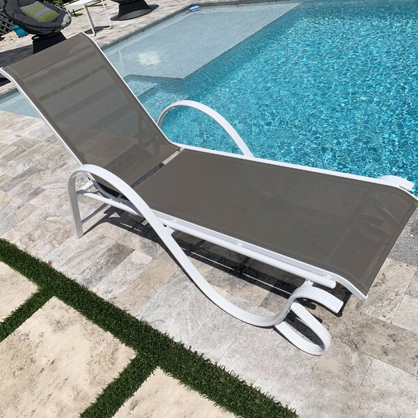 Penelope Reclining Chaise Lounge (Set of 2) by Rosecliff Heights Rosecliff Heights