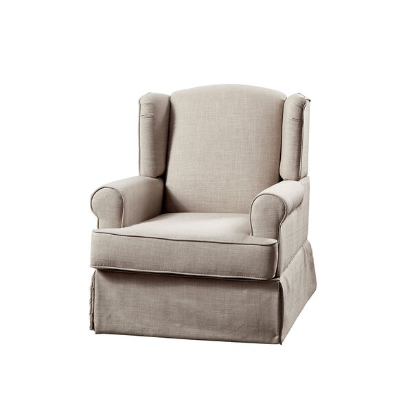 Castilla Fabric Upholstered Wooden Manual Recliner [Red Barrel Studio]
