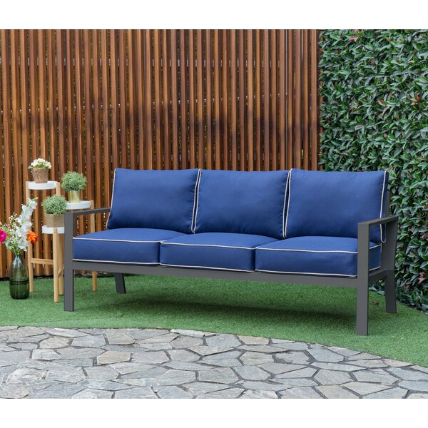 Mcclellan Patio Sofa with Cushions by Bayou Breeze