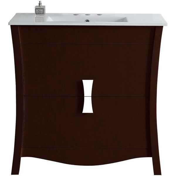 Cataldo Wood Floor Mount 36 Single Bathroom Vanity Set by Royal Purple Bath Kitchen