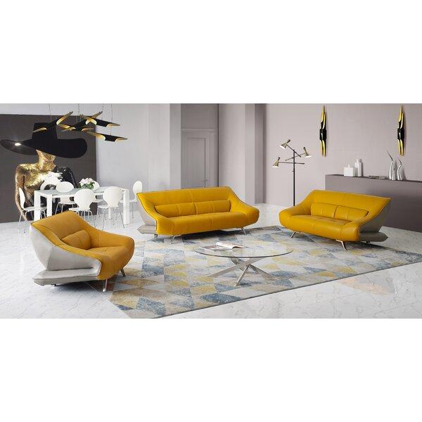 Boyertown 3 Piece Leather Living Room Set by Orren Ellis