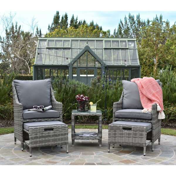 Vallauris 5 Piece Conversation Set with Cushions by Elle Decor