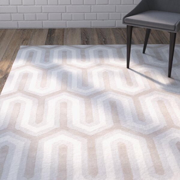 Martins Hand-Tufted Light Gray & Ivory Area Rug by Wrought Studio