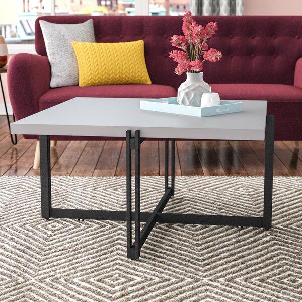Baran Metal Base Coffee Table by Modern Rustic Interiors