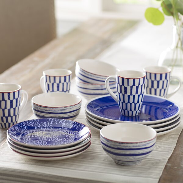 Simpson 16 Piece Dinnerware Set, Service for 4 by Mint Pantry