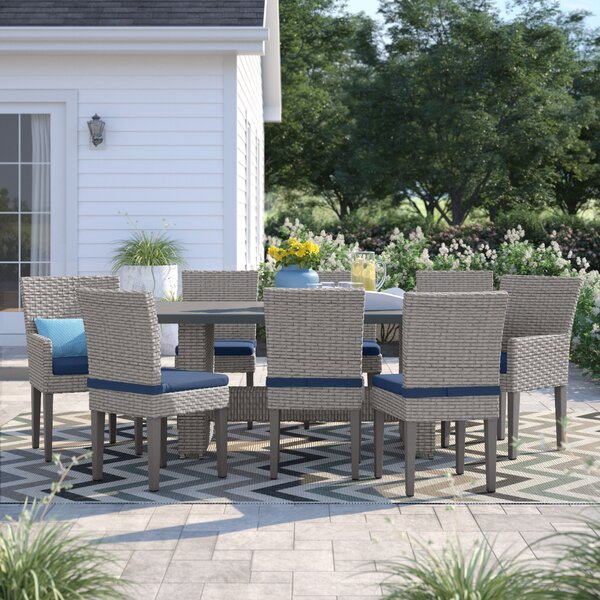 Kenwick 9 Piece Dinning Set with Cushions by Sol 72 Outdoor