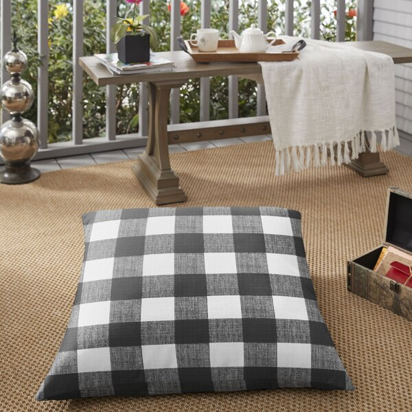Banbridge Buffalo Indoor/Outdoor Floor Pillow by Mozaic Company