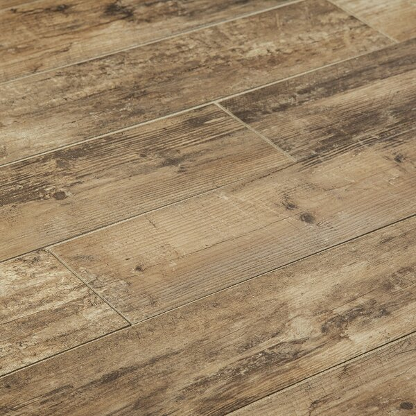 Chalet 6 x 36 Porcelain Wood Look Tile in Noce by Manor