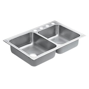 Moen 1800 Series Double Bowl Drop-In Kitchen Sink