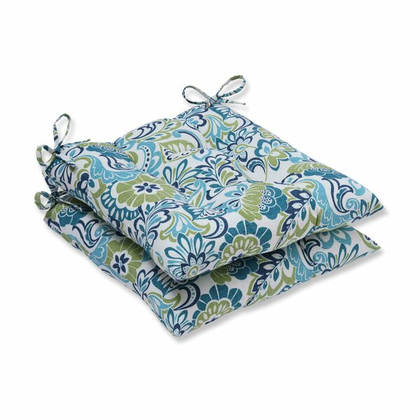 Indoor/Outdoor Floral Blue Dining Chair Cushion (Set of 2) by Andover Mills