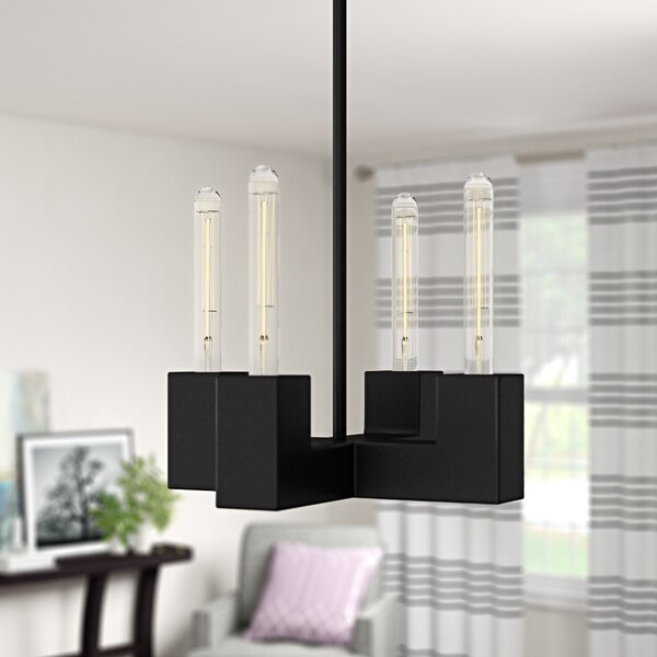 Jeterson 4-Light Candle Style Classic / Traditional Chandelier by Wrought Studio Wrought Studio