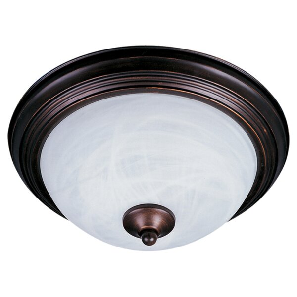 1 Light Flush Mount in Rubbed Bronze by Wildon Home ®